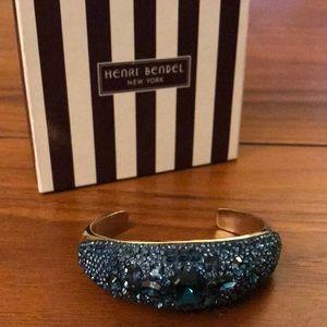 Henri Bendel blue crystal cuff